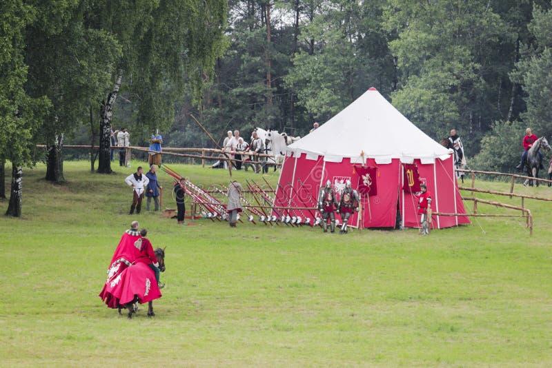Acampamento medieval polonês da guerra imagem de stock royalty free