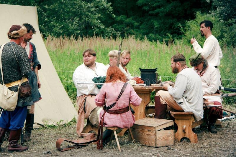 Acampamento militar após a batalha foto de stock royalty free