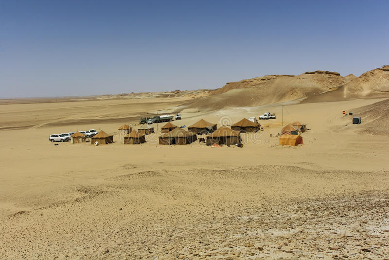 Acampamento no deserto de sahara foto de stock royalty free