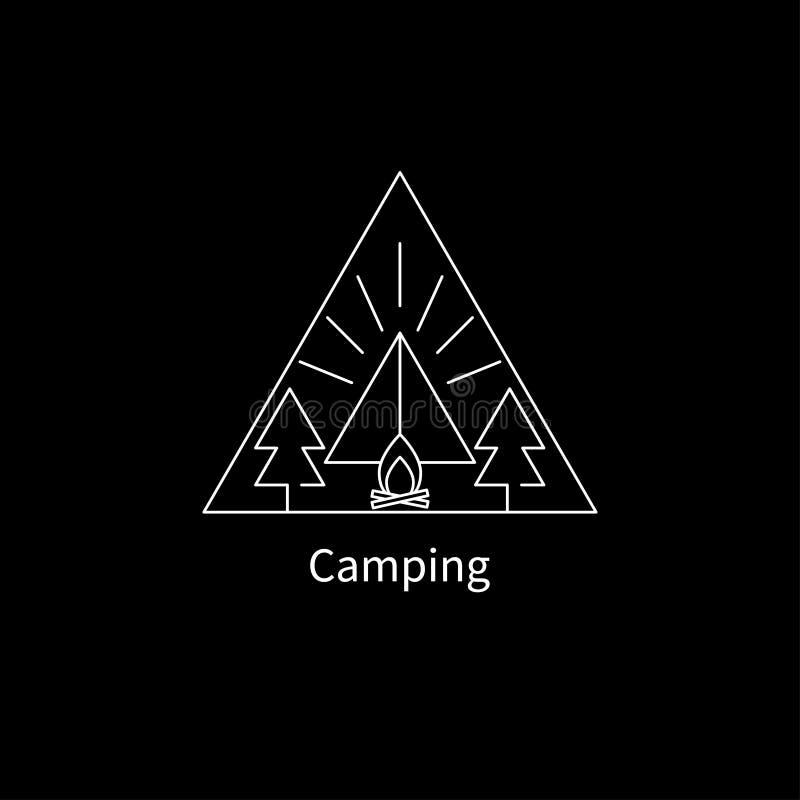 Acampamento, turismo, curso ilustração royalty free