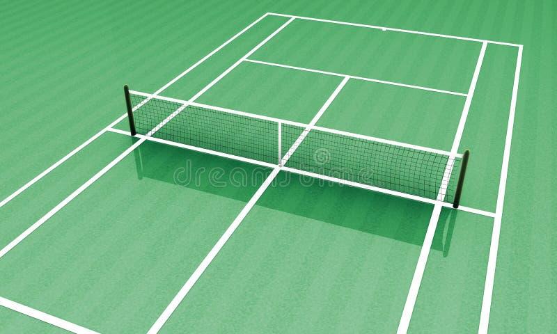 Acampamento verde do tênis ilustração royalty free