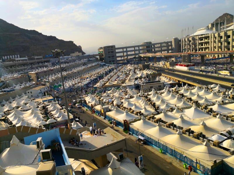 Acampamentos de Mena durante a estação do Haj foto de stock royalty free