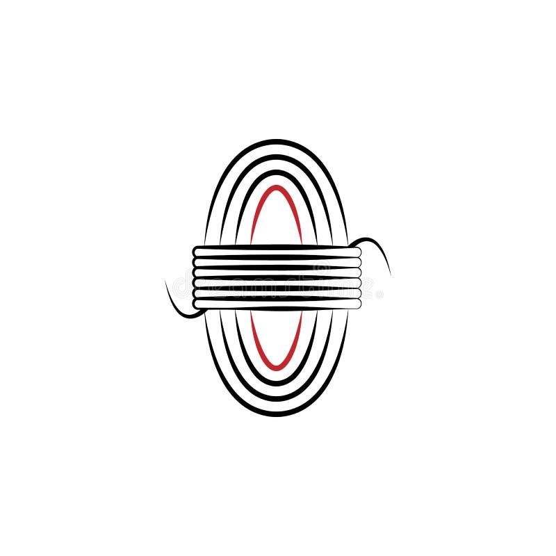 Acampando, línea coloreada icono de la cuerda 2 Ejemplo exhausto del elemento de color de la mano simple Acampando, diseño del sí libre illustration