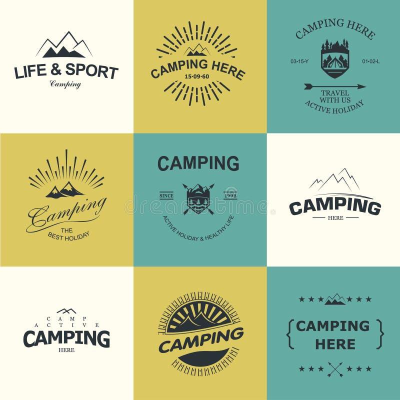 acampar ilustração stock