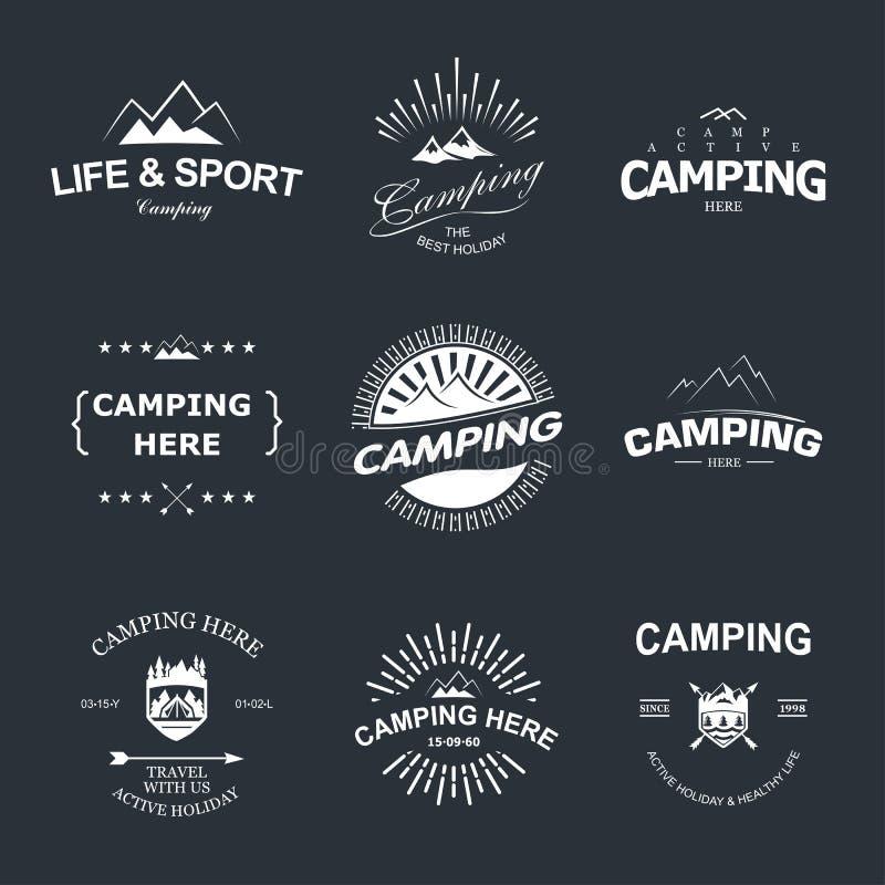 acampar ilustração royalty free