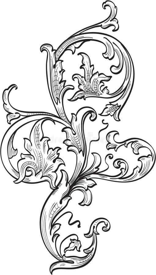 Download Acanthuce leaf stock vector. Illustration of decoration - 25581960