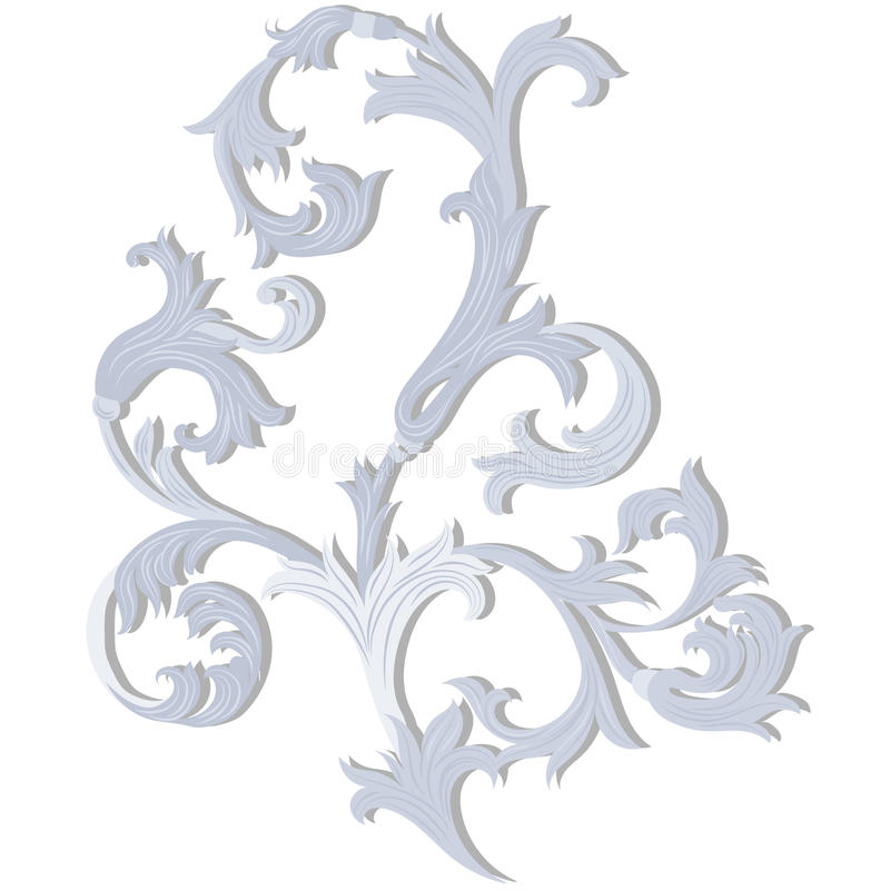 Acanthus leaf ornament element stock vector image 74796698 for Acanthus leaf decoration