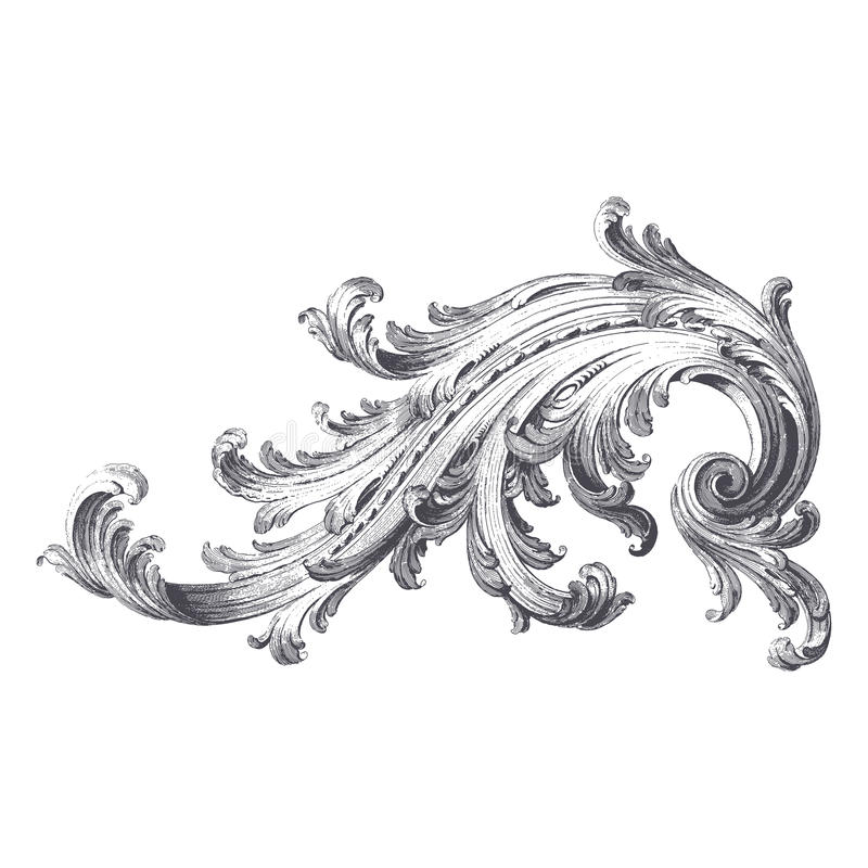 Acanthus Scroll royalty free illustration