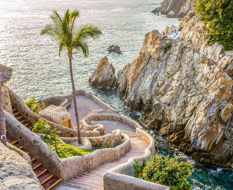 Acantilado de Acapulco fotos de archivo