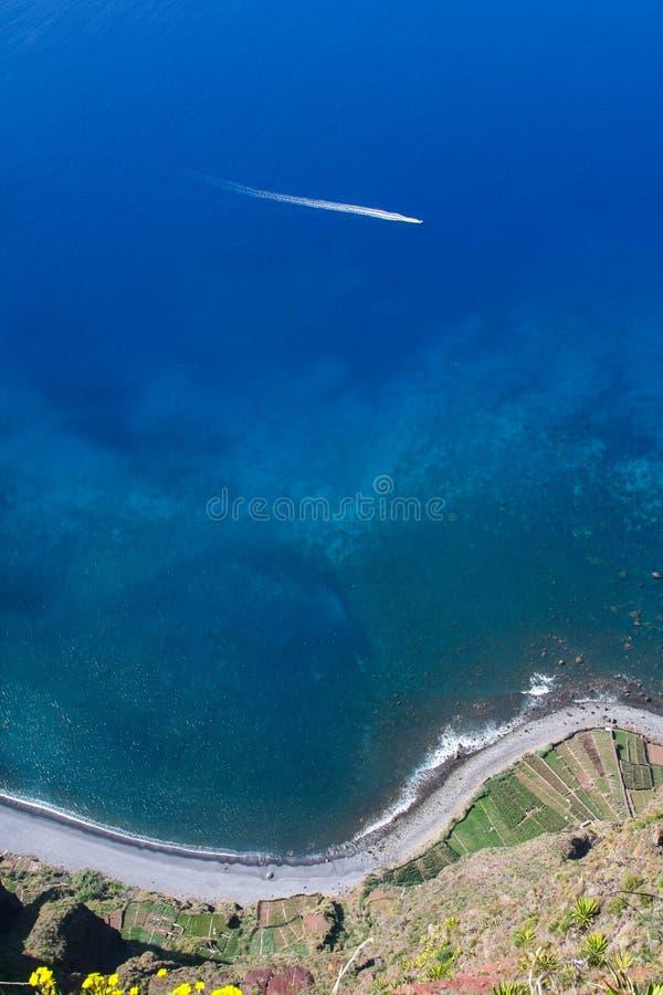 Acantilado de Cabo Girao imagen de archivo libre de regalías