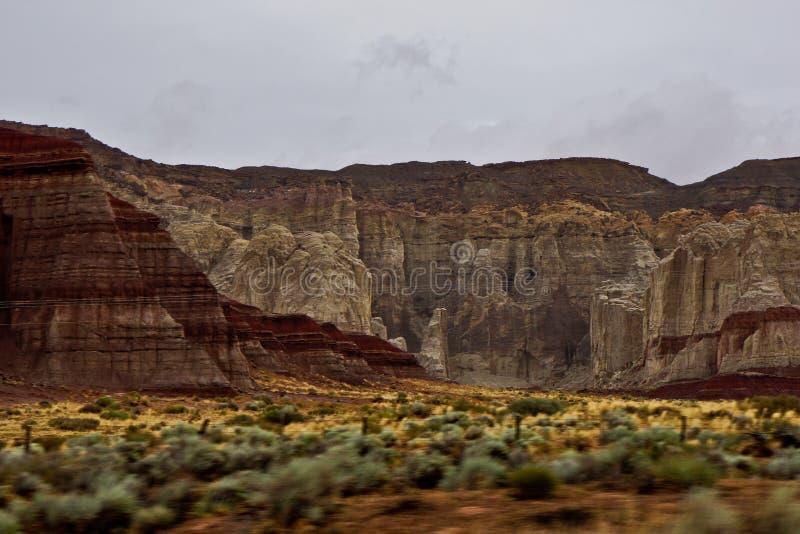 Acantilado de Escalante en la página de Arizona foto de archivo