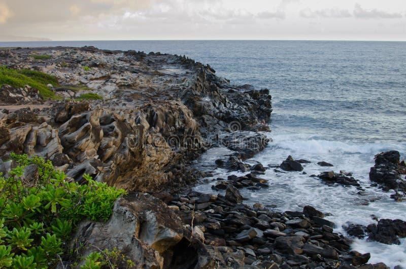 Acantilado de Hawaii imagen de archivo