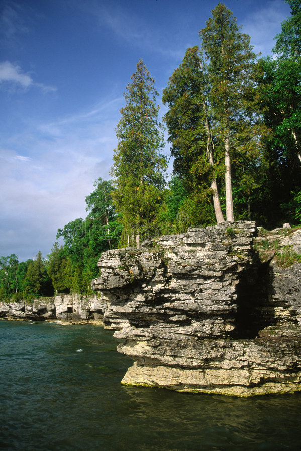 Acantilado en el lago Mitchigan foto de archivo libre de regalías