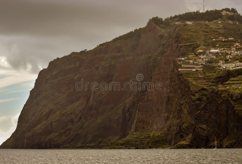 Acantilado famoso de Cabo Girao en Madeira imágenes de archivo libres de regalías