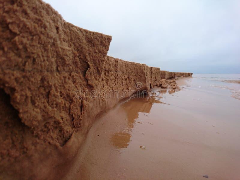 Acantilado micro de la arena foto de archivo