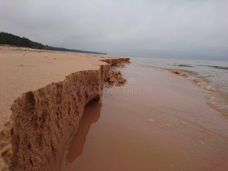 Acantilado micro de la arena foto de archivo libre de regalías