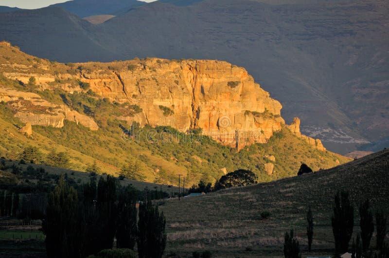 Acantilados de oro de la piedra arenisca fotos de archivo libres de regalías
