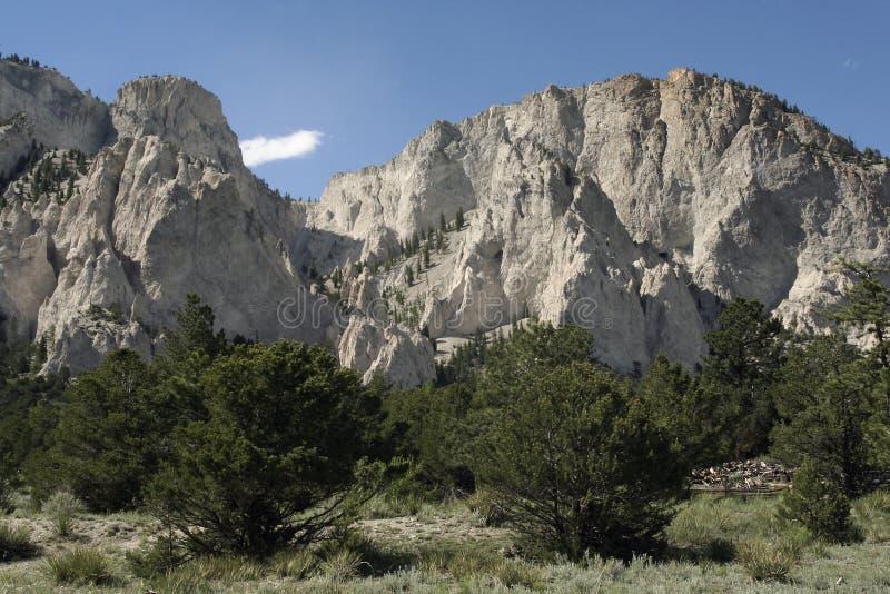 Acantilados de tiza de Colorado fotografía de archivo libre de regalías
