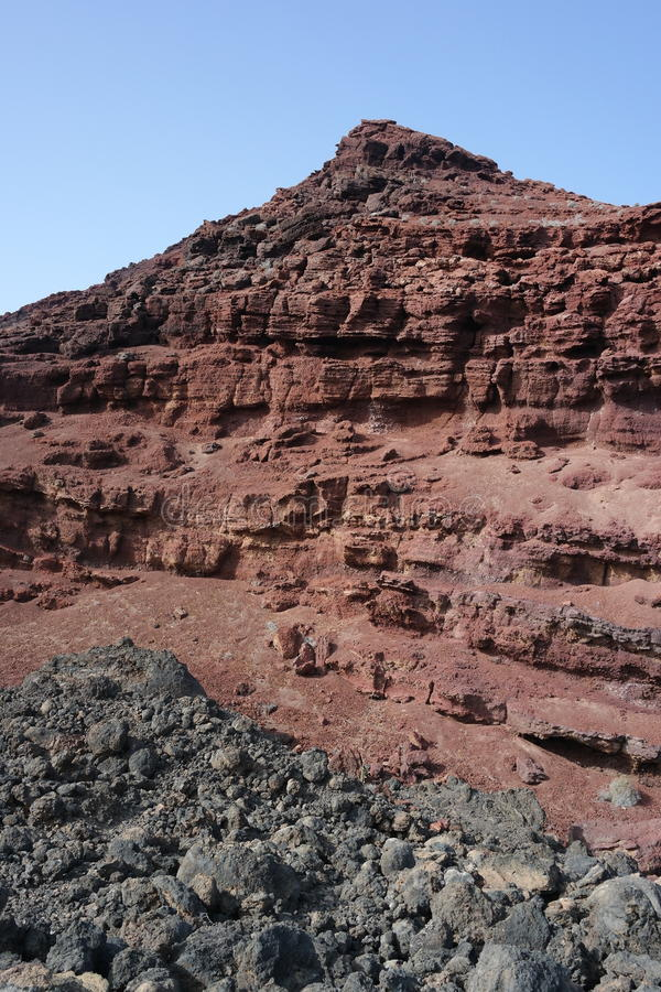 Acantilados del golfo del EL, Lanzarote, islas de Canaria fotografía de archivo libre de regalías