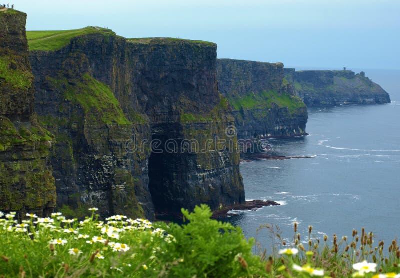 Acantilados del moher, captura del sunet, al oeste de Irlanda imágenes de archivo libres de regalías