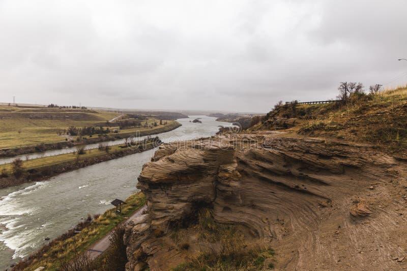 Acantilados del río Missouri foto de archivo libre de regalías