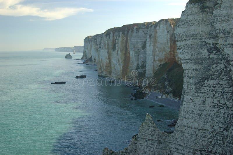 Acantilados en la Normandía imagen de archivo