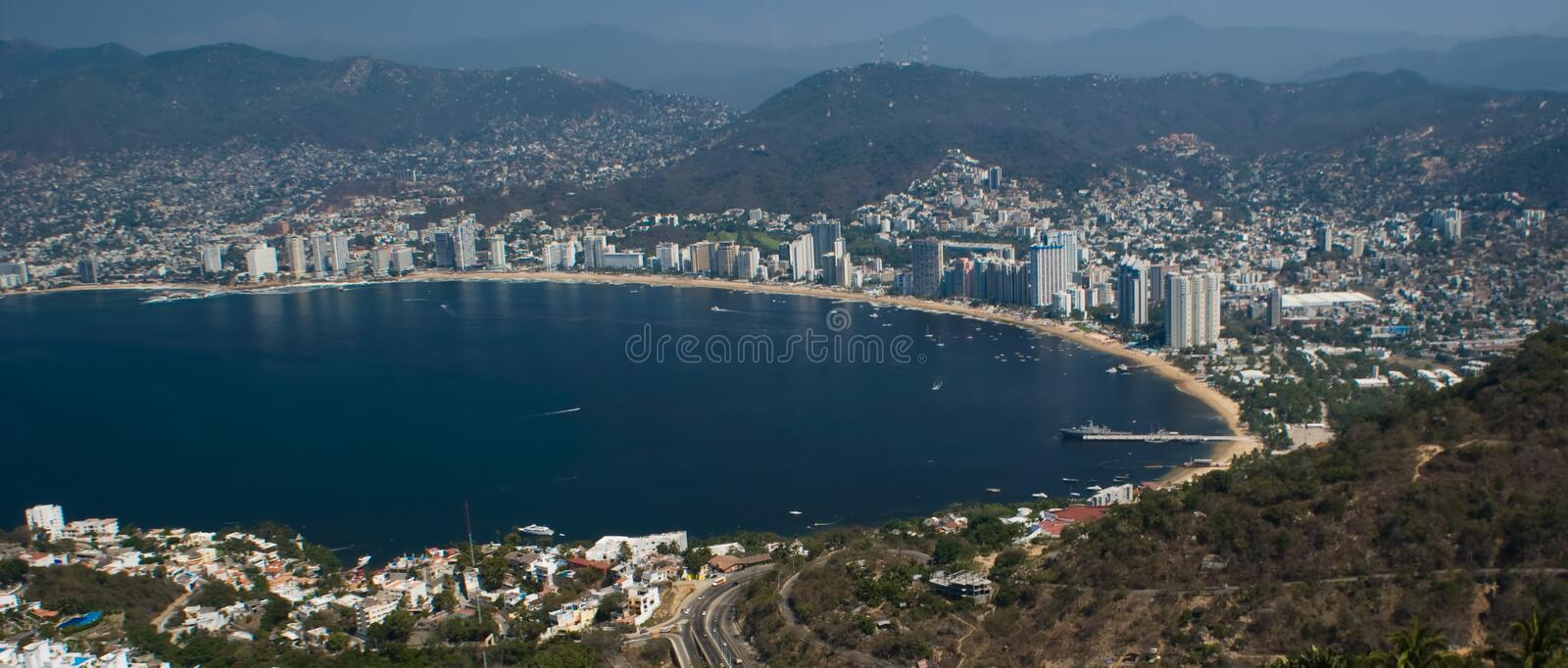 Download Acapulco Bay Ariel Panoramic Stock Photo - Image: 5052194