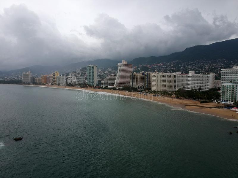 Acapulco-Hotels in Max Hurricane stockfotos
