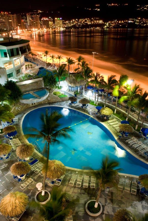 Acapulco-Nächte lizenzfreie stockbilder