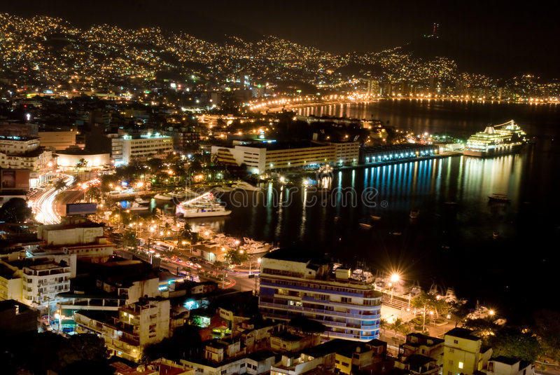 acapulco nätter arkivbild