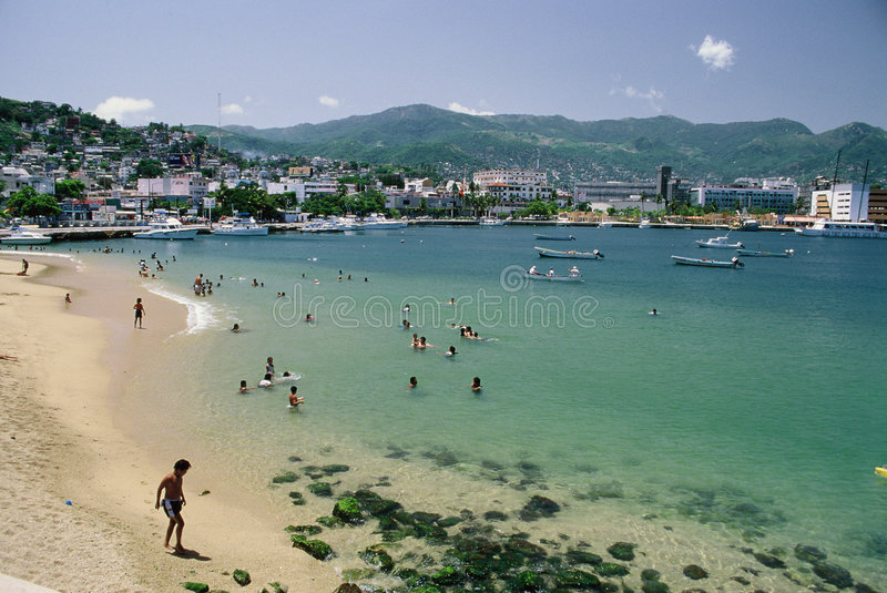 Acapulco Public Beach stock photography