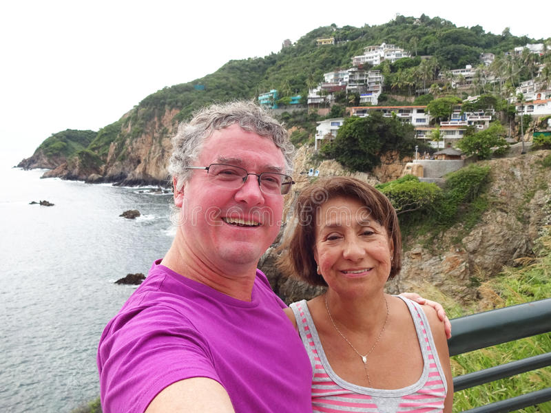Acapulco Selfie in Mexico stock foto
