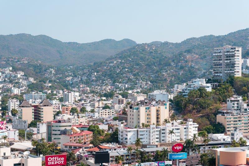 Acapulco-Stadt-Panoramablick lizenzfreies stockfoto