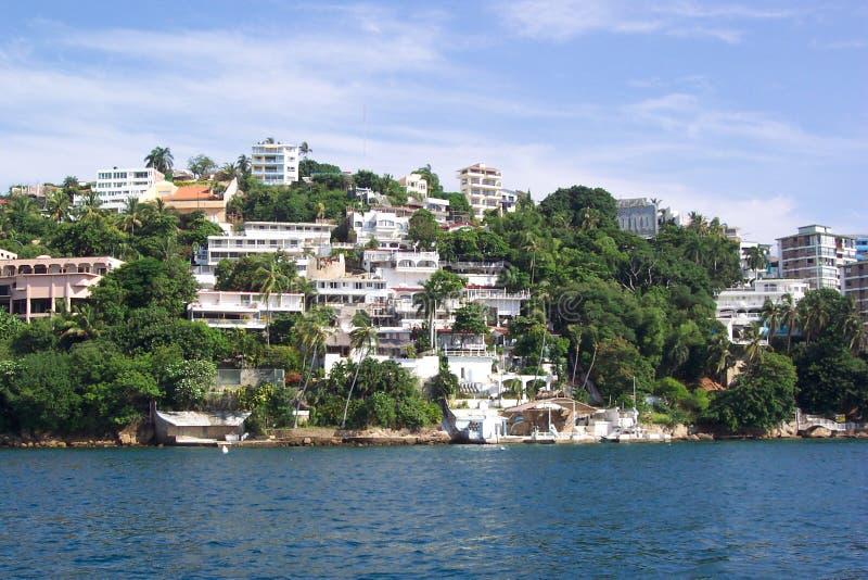 acapulco strand arkivbild