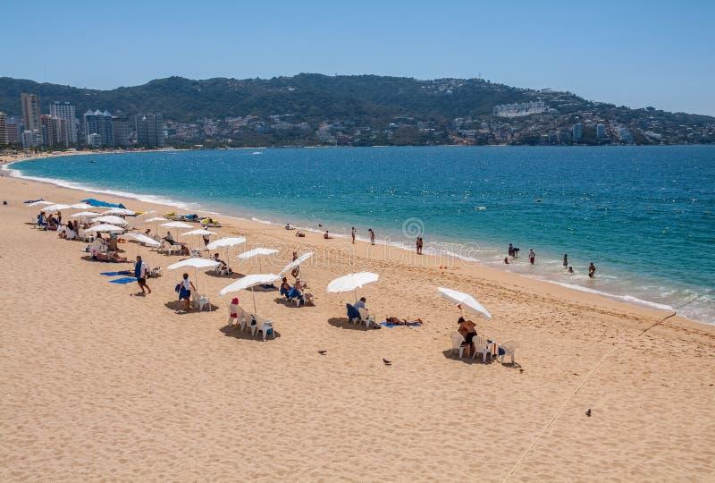 Acapulco-Strand Mexiko lizenzfreie stockfotos