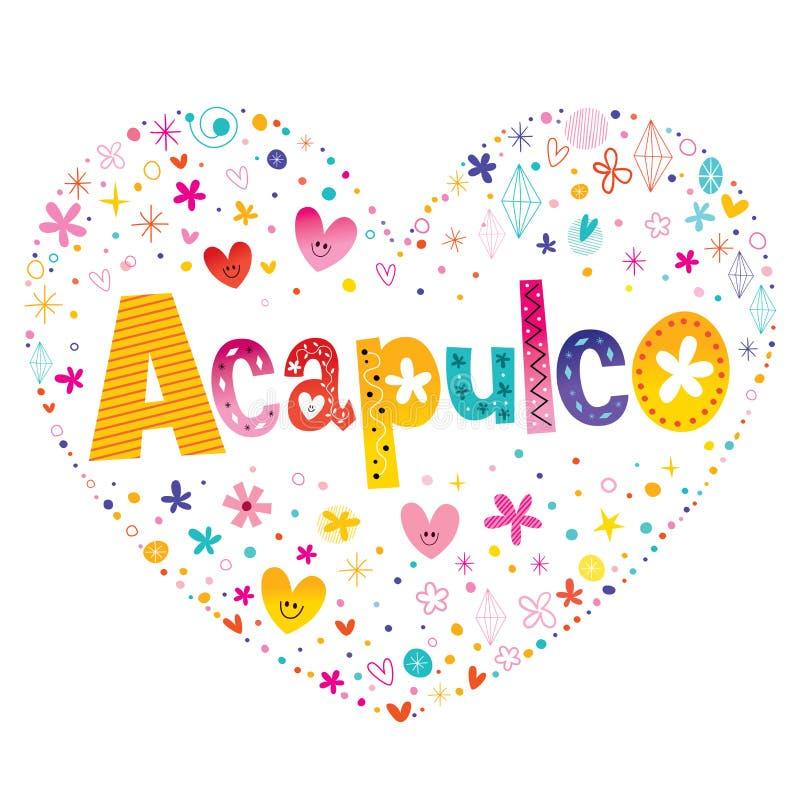 Acapulcostad in Mexico royalty-vrije illustratie