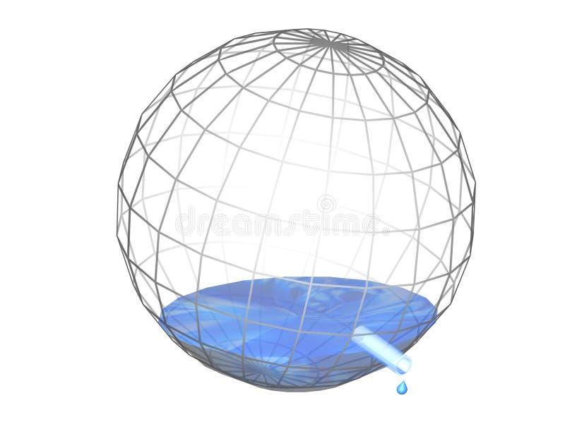 Acaricie el agua libre illustration