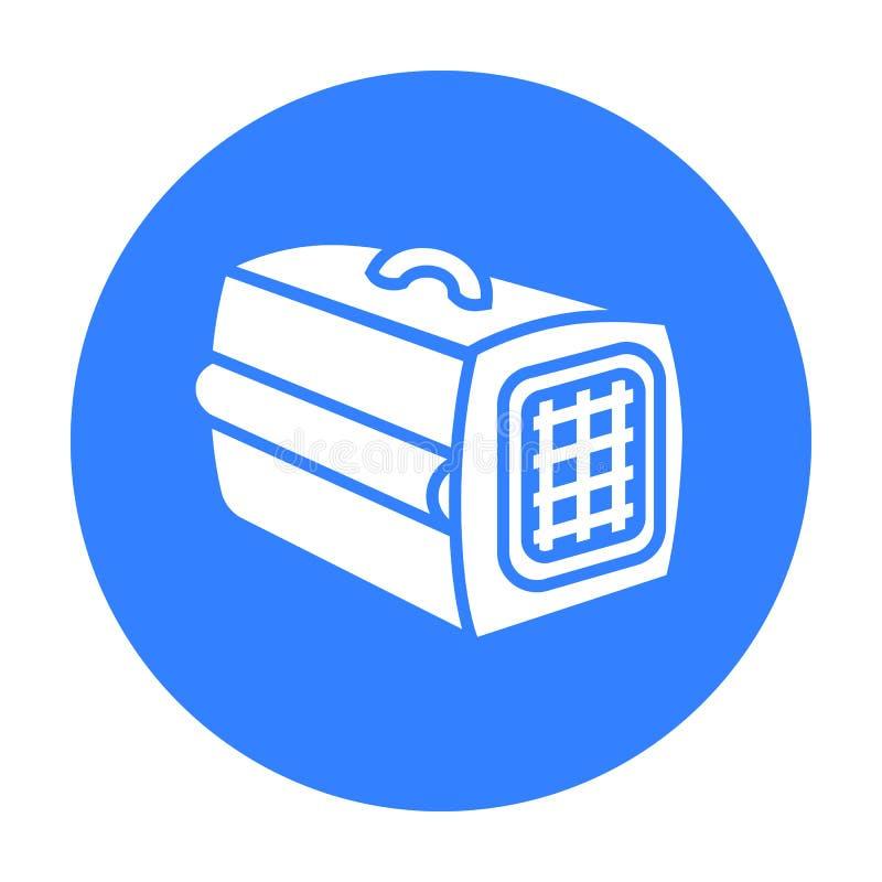 Acaricie el icono del caso del ejemplo del vector para el web y el móvil stock de ilustración