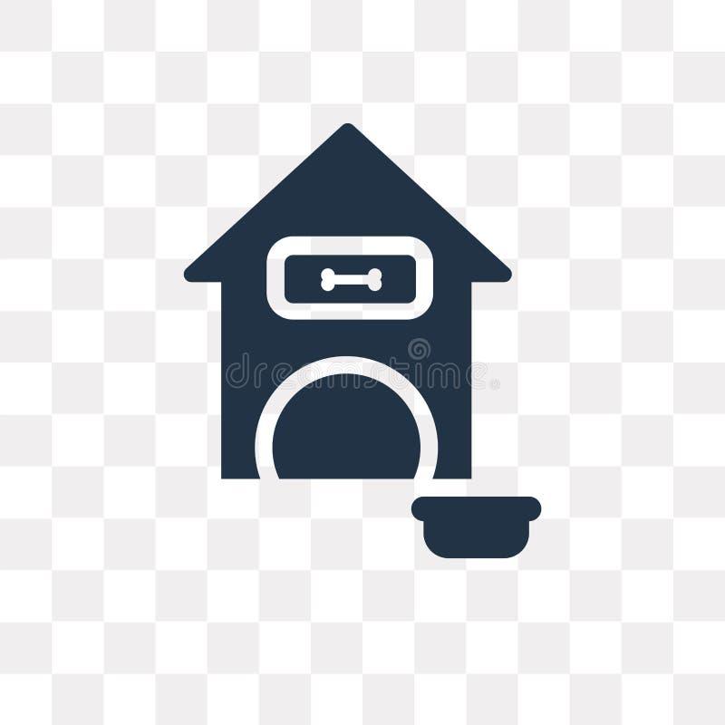 Acaricie el icono del vector de la casa aislado en el fondo transparente, animal doméstico ho stock de ilustración