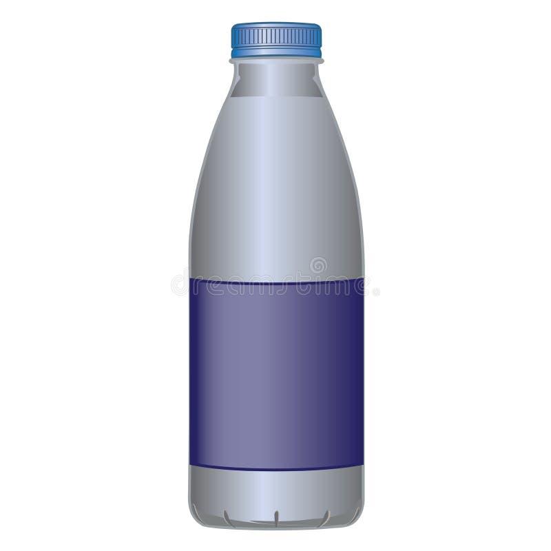 ACARICIE el producto lácteo de la botella para la leche y los líquidos ilustración del vector
