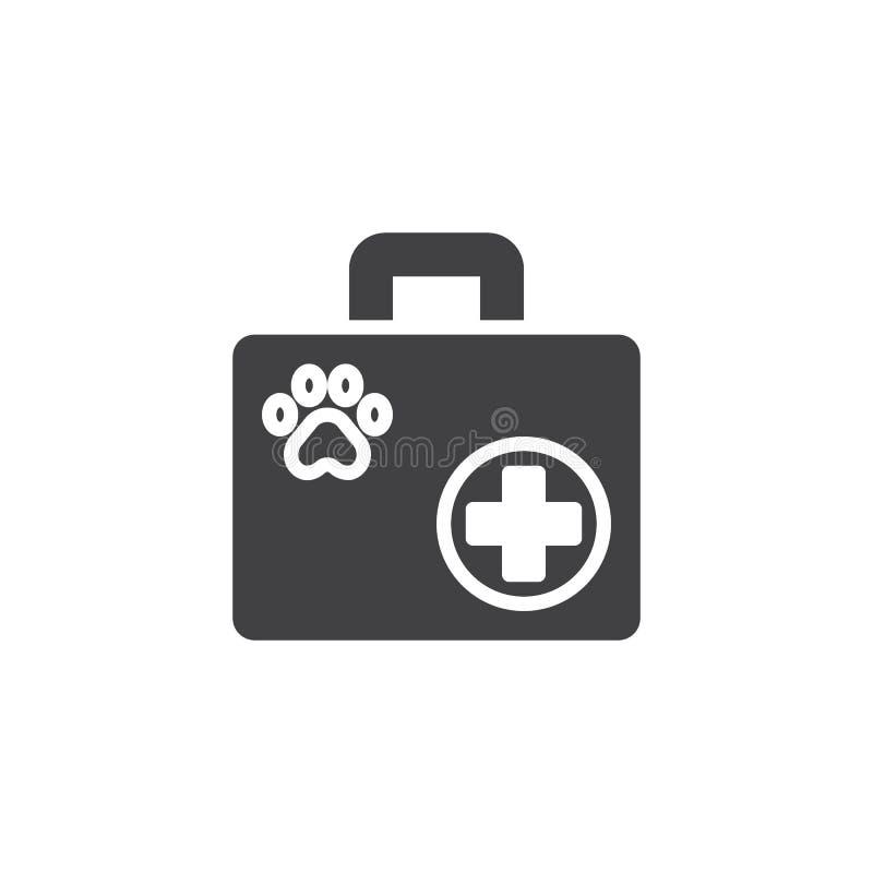 Acaricie el vector del icono de los primeros auxilios stock de ilustración