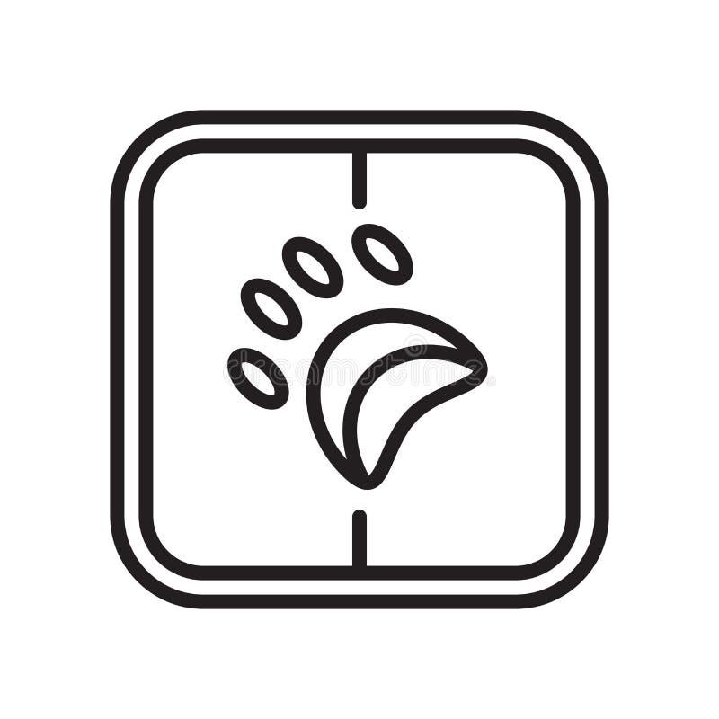 Acaricie la muestra y el símbolo del vector del icono aislados en el fondo blanco, concepto del logotipo del animal doméstico ilustración del vector