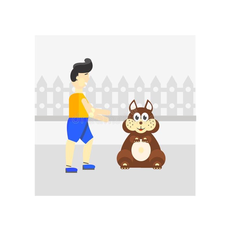 Acaricie la muestra y el símbolo del vector del icono aislados en el fondo blanco, concepto del logotipo del animal doméstico stock de ilustración