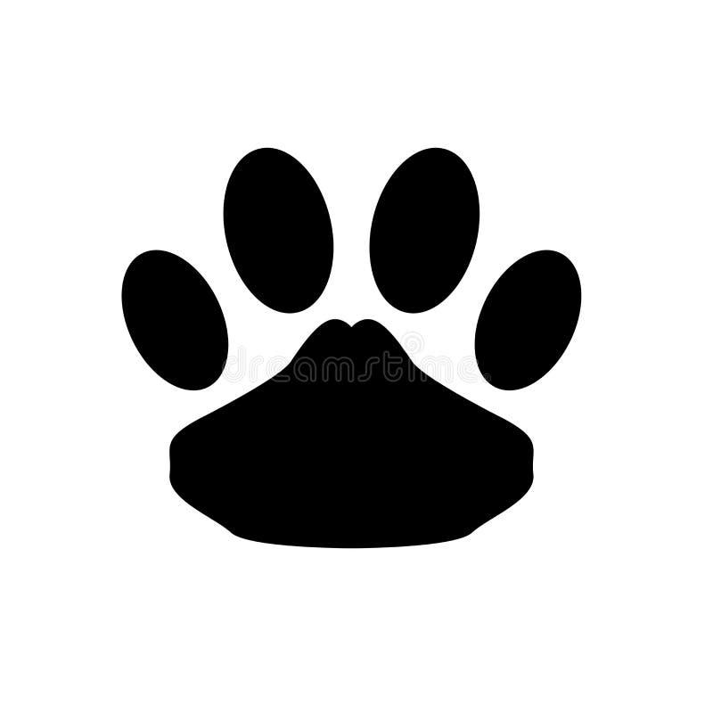 Acaricie la muestra y el símbolo del vector del icono aislados en el fondo blanco, concepto del logotipo del animal doméstico libre illustration