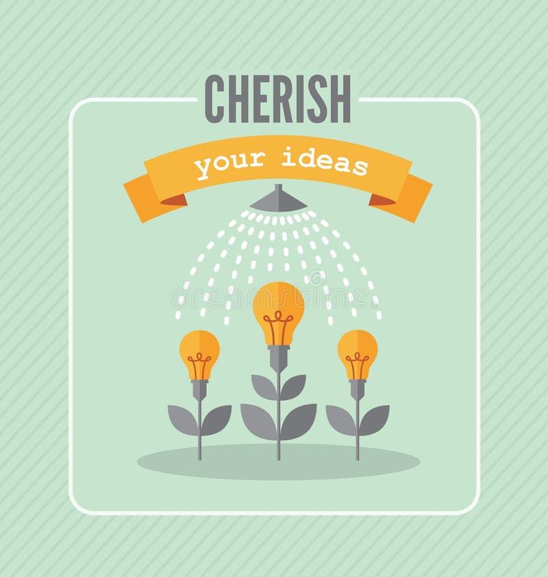 Acaricie sus ideas stock de ilustración