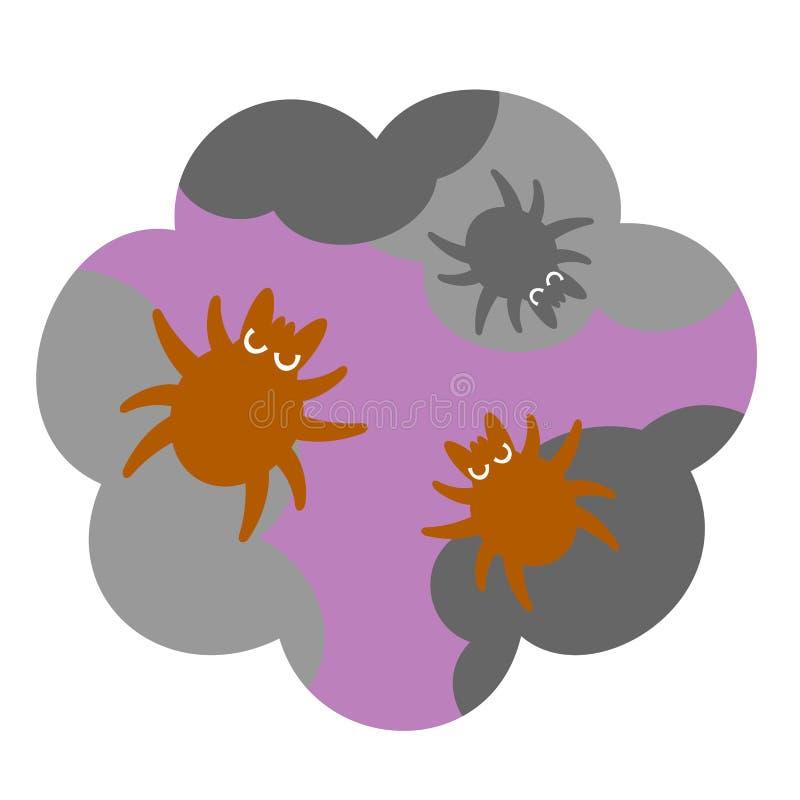 Acarides de la poussière de Chambre illustration stock