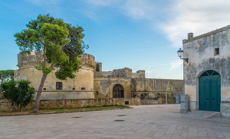 Acaya, small village in the Salento region of Puglia, province of Lecce, Italy. Acaya is a small village, a community, in the province of Lecce and region of royalty free stock photos