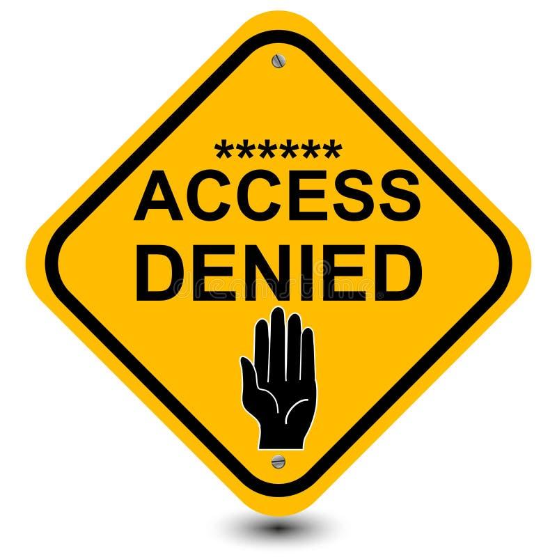Accédez au signe refusé illustration de vecteur