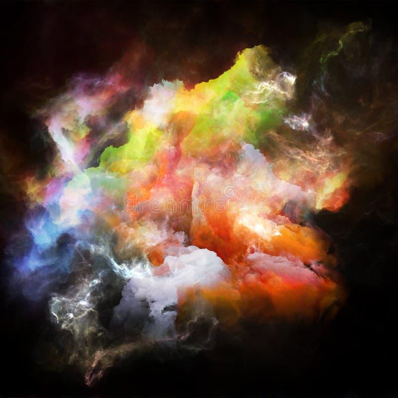 Accélération d'espace chromatique illustration stock