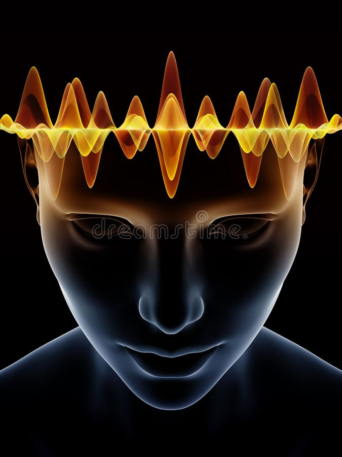 Accélération d'esprit humain illustration de vecteur
